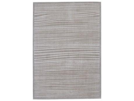 Feizy Rugs Melina Taupe / White Rectangular Area Rug