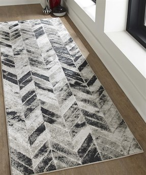 Feizy Rugs Micah Gray / Silver 2'10'' X 7'10'' Runner Rug