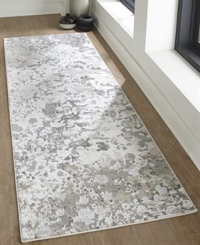 Feizy Rugs Micah Silver / Gray 2'10'' X 7'10'' Runner Rug