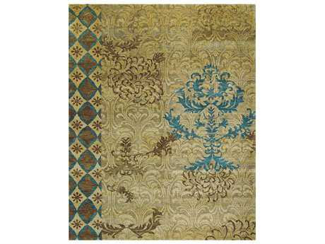 Feizy Qing Rectangular Camel Area Rug