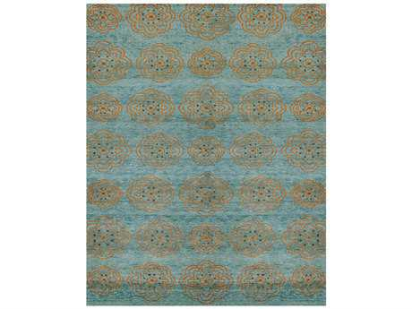 Feizy Qing Rectangular Teal Area Rug