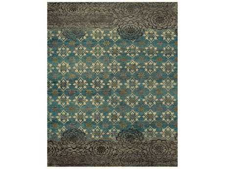 Feizy Qing Rectangular Silver & Sage Area Rug