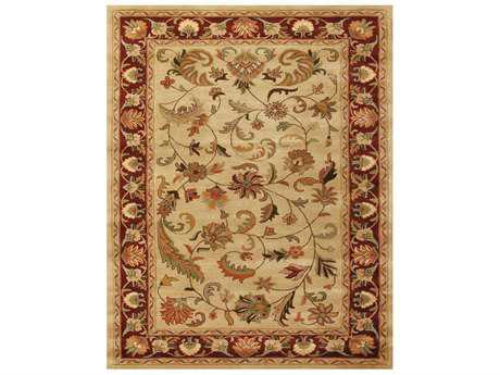 Feizy Yale Rectangular Ivory & Red Area Rug FZ8236FIVORYRED