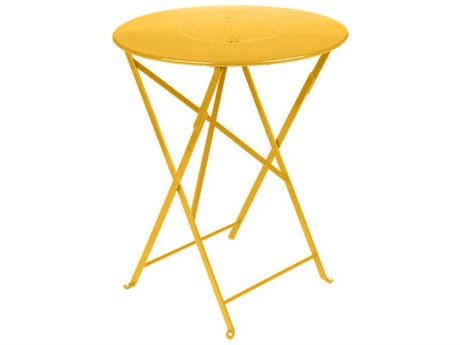 Fermob Floreal 24'' Wide Steel Round Bistro Table