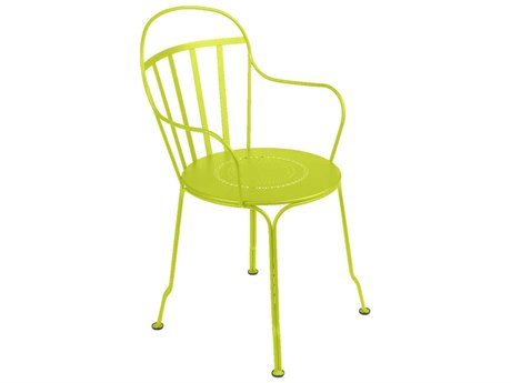 Fermob Louvre Steel Metal Dining Chair (Set of 2)