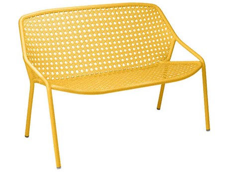 Fermob Croisette Aluminum Resin Bench PatioLiving