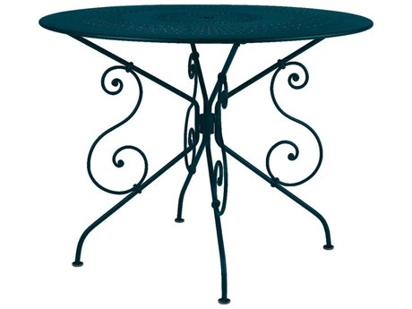 Fermob 1900 38'' Wide Steel Round Bistro Table