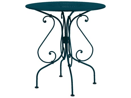 Fermob 1900 26'' Wide Steel Round Bistro Table