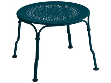 Fermob 1900 18'' Wide Steel Round End Table PatioLiving