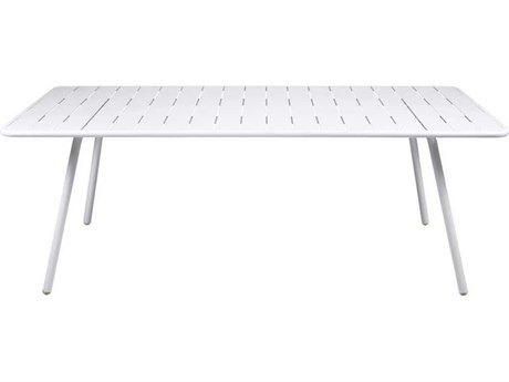 Fermob Luxembourg 81'' Wide Aluminum Rectangular Dining Table PatioLiving
