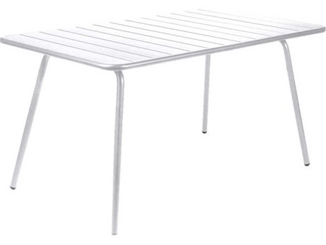 Fermob Luxembourg 56'' Wide Aluminum Rectangular Dining Table PatioLiving