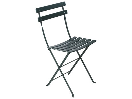 Fermob Bistro Cedar Green Steel Metal Dining Chair (Set of 2) PatioLiving
