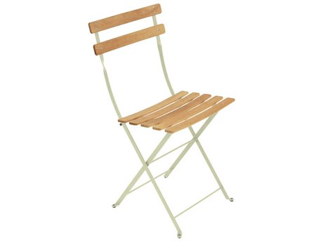 Fermob Bistro Steel Wood Dining Chair (Set of 2) PatioLiving