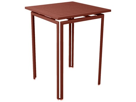 Fermob Costa 32'' Wide Aluminum Square Bar Table