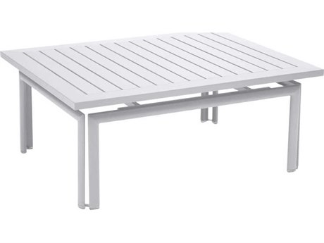 Fermob Costa 39'' Wide Aluminum Rectangular Coffee Table