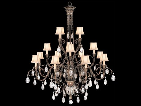 Fine Art Lamps A Midsummer Nights Dream 136740ST 16-Light 57'' Wide Grand Chandelier