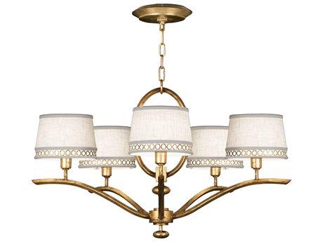 Fine Art Lamps Allegretto Gold 785440-2ST Five-Light 29'' Wide Chandelier FA7854402ST