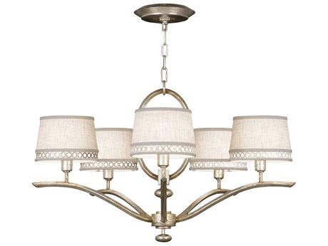 Fine Art Lamps Allegretto Silver 785440ST Five-Light 29'' Wide Chandelier FA785440ST