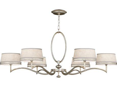 Fine Art Lamps Allegretto Silver 771740ST Six-Light 51'' Wide Grand Chandelier FA771740ST
