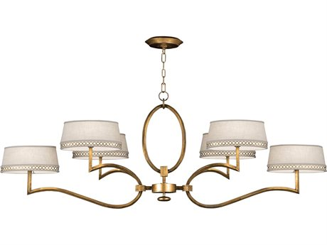 Fine Art Lamps Allegretto Gold 780040-2ST Six-Light 63'' Wide Grand Chandelier FA7800402ST