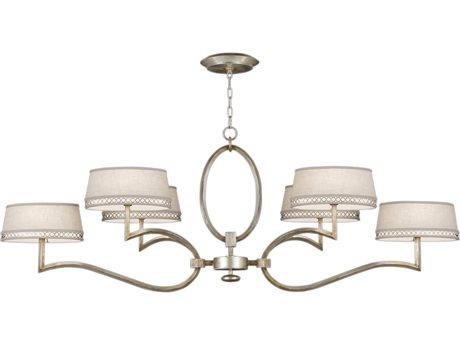 Fine Art Lamps Allegretto Silver 780040ST Six-Light 63'' Wide Grand Chandelier FA780040ST