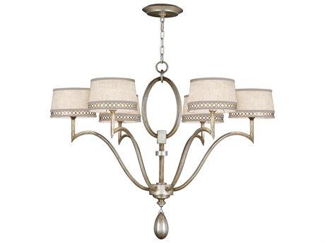Fine Art Lamps Allegretto Silver 785840ST Six-Light 39'' Wide Grand Chandelier FA785840ST