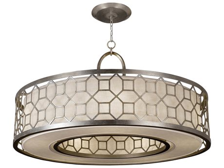 Fine Art Lamps Allegretto Silver 780340GU Five-Light Pendant