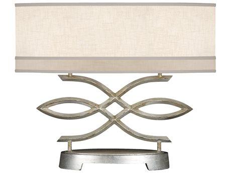 Fine Art Lamps Allegretto Silver 785710ST Two-Light Table Lamp FA785710ST