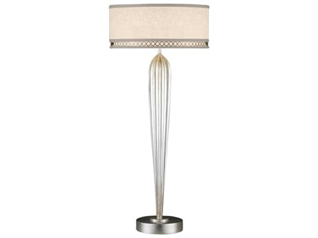 Fine Art Lamps Allegretto Silver 792915ST Two-Light Table Lamp FA792915ST
