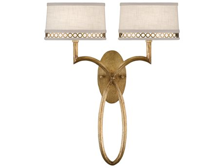 Fine Art Lamps Allegretto Gold 784750-2ST Two-Light Wall Sconce FA7847502ST