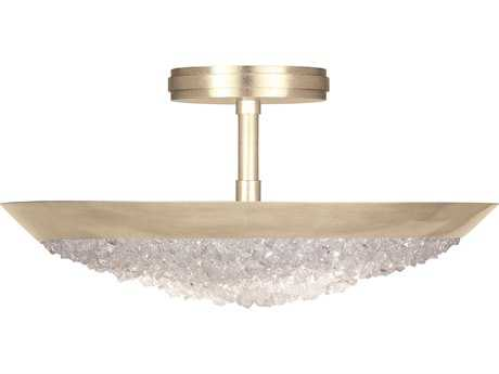Fine Art Lamp Arctic Halo Champagne Tinted Gold Three-Light 20'' Wide Semi Flush Mount Light FA8800401ST