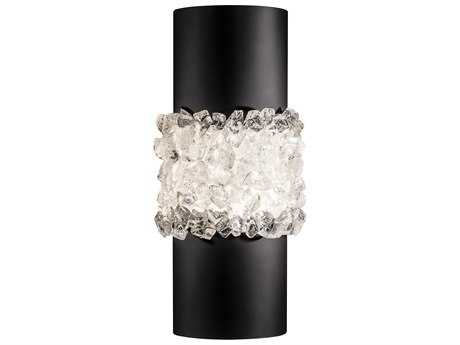 Fine Art Lamp Arctic Halo Matte Black Two-Light Wall Sconce FA8766502ST