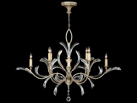 Fine Art Lamps Beveled Arcs 701240ST Eight-Light 57'' Wide Grand Chandelier FA701240ST