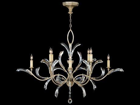 Fine Art Lamps Beveled Arcs 701240ST Eight-Light 57'' Wide Grand Chandelier FA701240ST