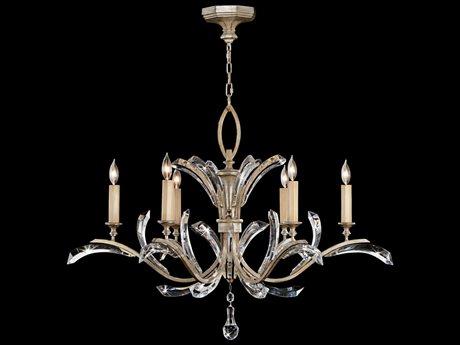 Fine Art Lamps Beveled Arcs 702440ST Six-Light 42'' Wide Grand Chandelier FA702440ST