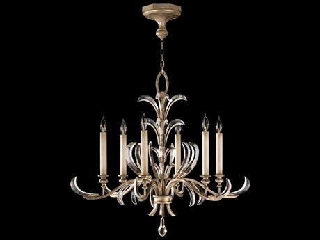 Fine Art Lamps Beveled Arcs 739140ST Six-Light 37'' Wide Grand Chandelier FA739140ST