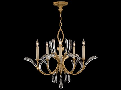 Fine Art Lamps Beveled Arcs Gold 763040ST Five-Light 36'' Wide Grand Chandelier FA763040ST