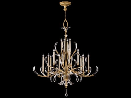 Fine Art Lamps Beveled Arcs Gold 770040ST 16-Light 58'' Wide Grand Chandelier FA770040ST