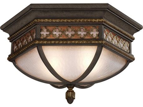 Fine Art Lamps Chateau Outdoor 403082ST Two-Light Outdoor Ceiling Light FA403082ST