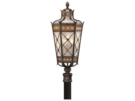Fine Art Lamps Chateau Outdoor 541680ST Five-Light Outdoor Post Light