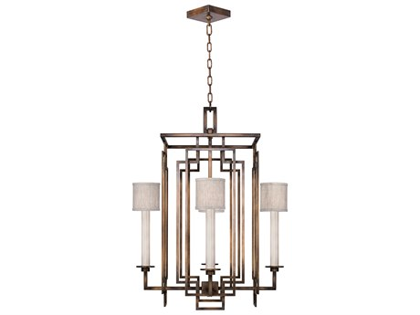 Fine Art Lamps Cienfuegos Four-Light 24'' Wide Chandelier with Shade FA88904011ST
