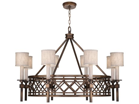 Fine Art Lamps Cienfuegos Eight-Light 39'' Wide Chandelier with Shade FA88944011ST