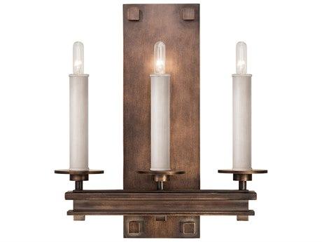 Fine Art Lamps Cienfuegos Antique Bronze Three-Light Wall Sconce FA8889501ST