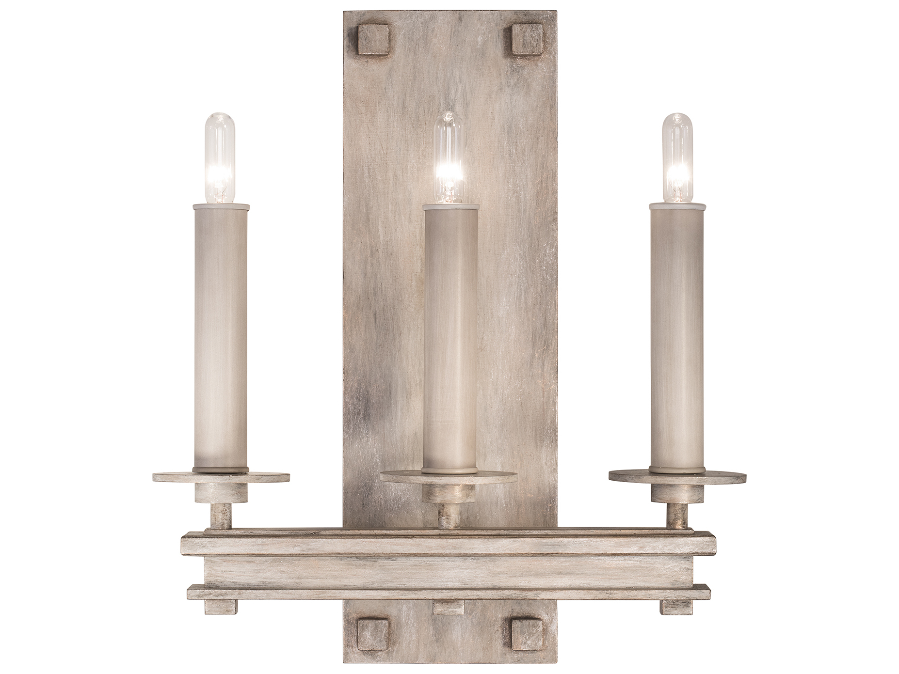 Fine Art Lamps Cienfuegos Weathered Gray Patina Three Light Wall Sconce Fa8889502st