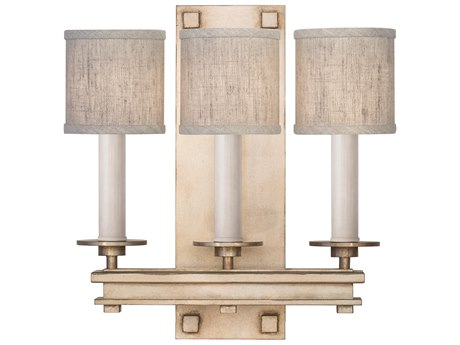 Fine Art Lamps Cienfuegos Soft Gold Three-Light Wall Sconce with Shade FA88895031ST