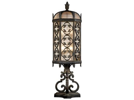 Fine Art Lamps Costa Del Sol 324980ST Three-Light Outdoor Post Light