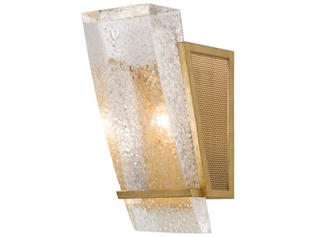 Fine Art Lamps Crownstone Gold Leaf with Metal Mesh Wall Sconce
