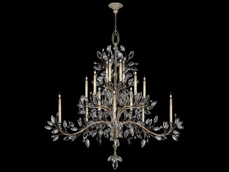 Fine Art Lamps Crystal Laurel 771240ST 20-Light 75'' Wide Grand Chandelier