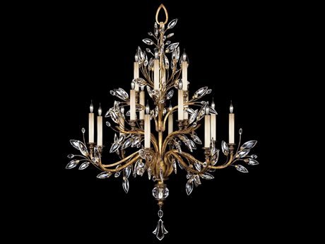 Fine Art Lamps Crystal Laurel Gold 773740ST 16-Light 45'' Wide Grand Chandelier