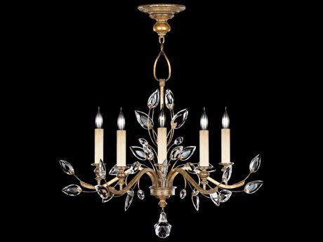 Fine Art Lamps Crystal Laurel Gold 775840ST Five-Light 32'' Wide Grand Chandelier FA775840ST